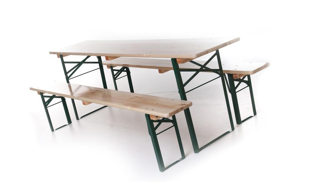 Bankenset 180 x 50 cm ( 1 tafel + 2 banken)