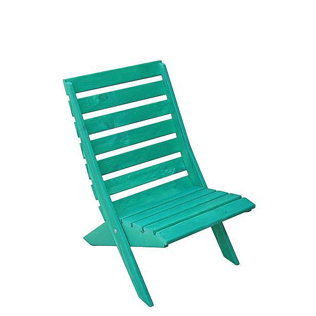 Strandstoel groen hout (beperkte voorraad)