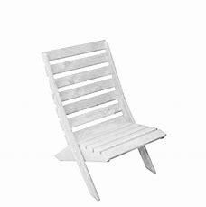 Strandstoel wit  hout (beperkte voorraad)