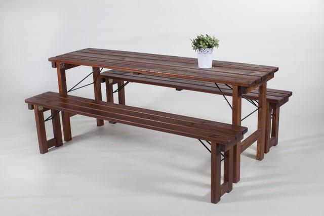 Bankenset Beieren SMAL (tafel 50 cm x 180 cm + 2 banken)