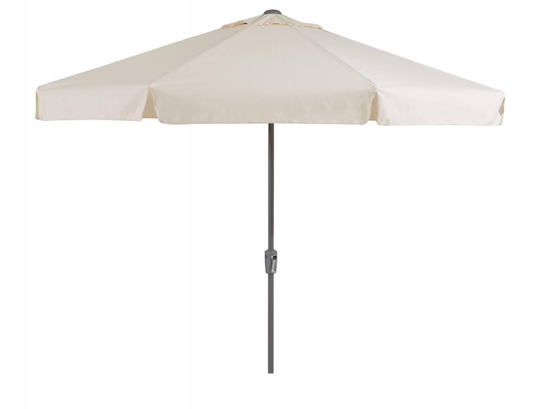 Parasol rond 300 cm creme + voet