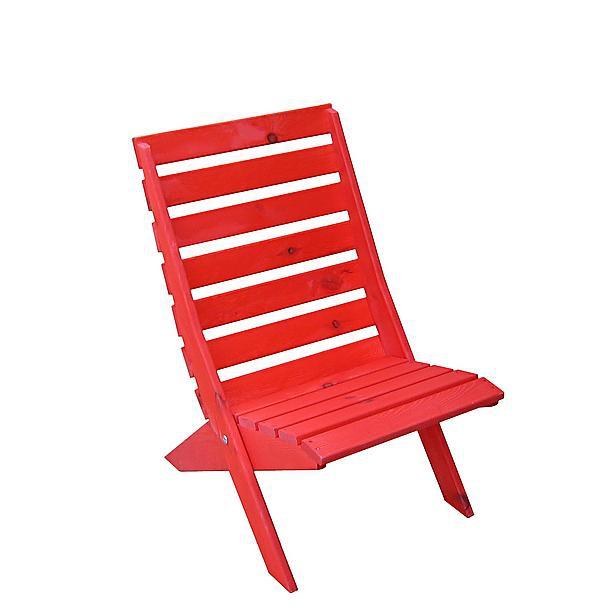 Strandstoel rood hout (beperkte voorraad)