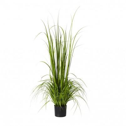 Kunstplant gras 180 cm in pot grijs.