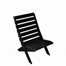 Strandstoel zwart  hout (beperkte voorraad)