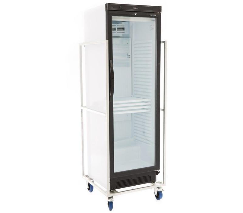 Koelkast/glazen deur 345 liter ( kan niet in personen auto en mag niet op aanhanger vervoerd worden))