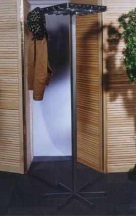 Garderobe-rek voor 20 jassen (met haken)