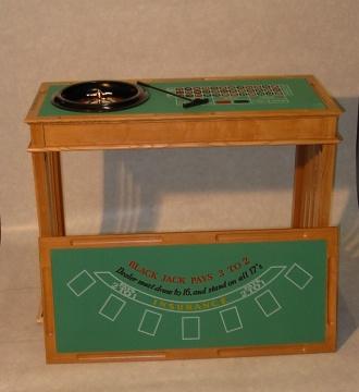 Casinospel groot 3 in 1 (black jack, roulette en dobbelen)