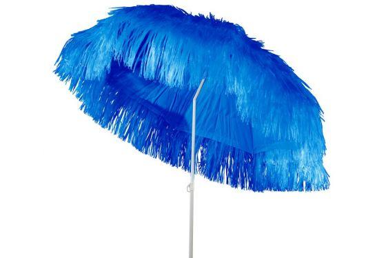 Raffia Parasol Blauw 180 cm + voet