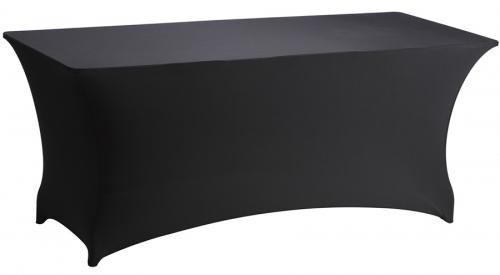 Partytafel 183 x 76 + stretchrok zwart