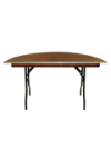 Half ronde tafel 140 x 76 cm( Past aan tafel 140 x 140 )