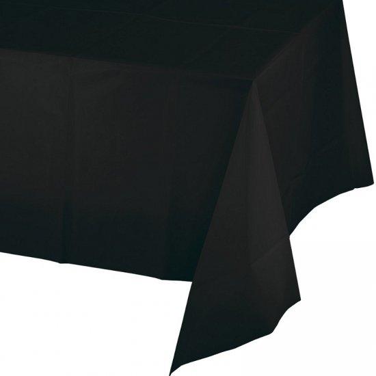 Tafelkleed zwart  220 x 130 cm