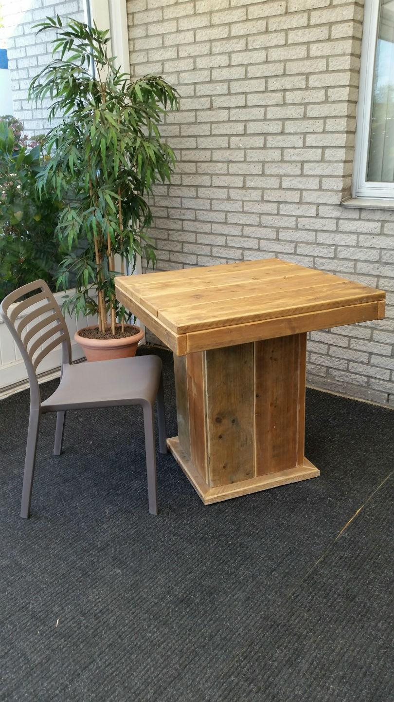 Robuust Zittafel steigerhout 80x 80 x 75 cm