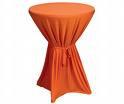 Statafelrok oranje losse strik