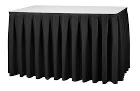 Tafelrok zwart 410 cm