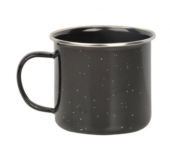 Mok Emaille zwart 400 ml