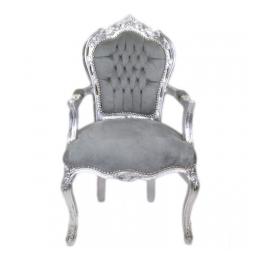 Barokstoel Zilver