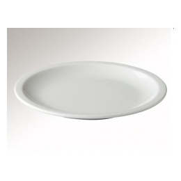 Plat bord 23,5 cm. wit mammoet