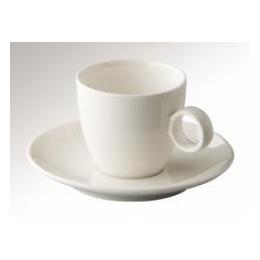 Cappuccino kop en schotel (effen)