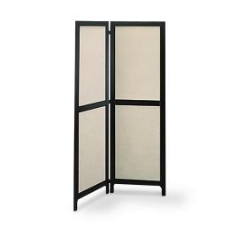 Kamerscherm zwart/wit 2 x (65 x 200)