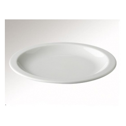 Boterhambord 20,5 cm. wit mammoet