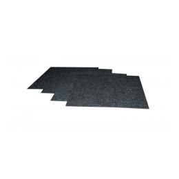 Tapijttegels 100 x 100 cm per m2  antraciet (gelegd)