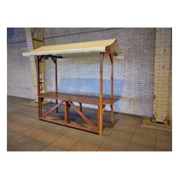 Nostalgische marktkraam 250 x 80 cm ( binnen geplaatst)
