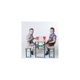 Bankenset voor kinderen (1 tafel 110 x 40+ 2 banken)