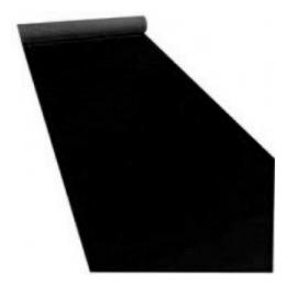 Loper zwart per M2 ( koop)
