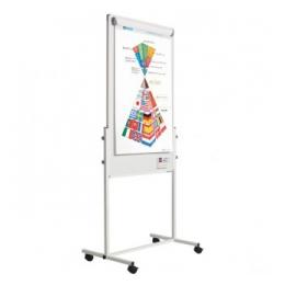 Flipover combi ( voorzijde whiteboard/flipover, achterzijde prikbord/presentiebord)
