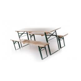 Bankenset (1 tafel 220 x 70 cm + 2 banken)