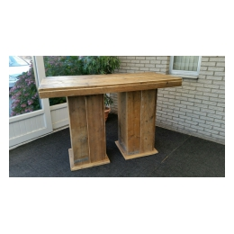 Robuust Statafel Dubbel steigerhout 160 x 80 x 110 cm