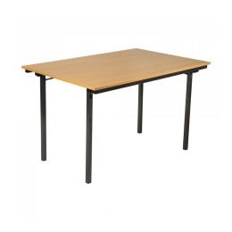 Vergadertafel  140 x 80 cm Beuken opklapbaar