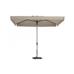 parasol 3 x 3 mtr. met voet (ecru)