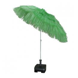 Raffia Parasol Lime 180 cm + voet