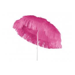 Raffia parasol roze 180 cm + voet