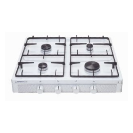 Kookplaat op gas 4 pits (excl. gas)