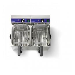 Frietpan 2 x 8 liter (2 x 3250 watt) ( let op 2 stekkers)