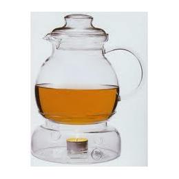 Theepot glas 1,5 liter +theelichtjes