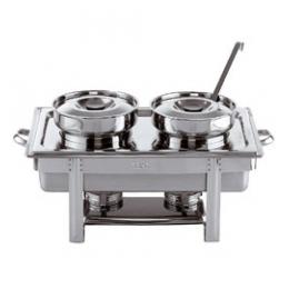 chafing dish +twee soepketels