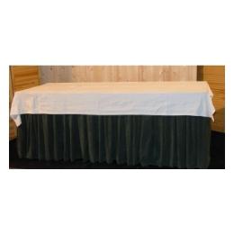 Buffettafel 200 x 80 cm. met groene rok+kleed