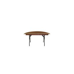Half ronde tafel 140 x 76 cm (past aan tafel 140 x 140 cm)