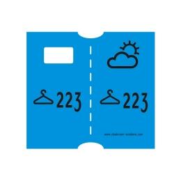 Garderobenummering papier (dubbel) ( verkoop artikel)