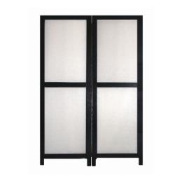 Kamerscherm zwart wit 2 x (65 x 200 cm)