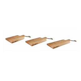 Serveerplank beuken met handvat 49 cm (klein)