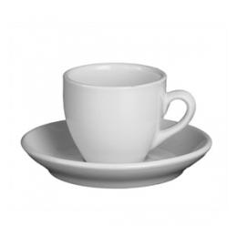 Espresso kop en schotel (effen)