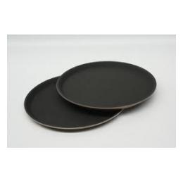 Dienblad zwart rond 35,5 cm antislip