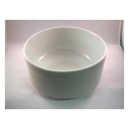 Slaschaal wit groot 18,5 cm